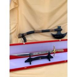 Hediyelik Baskılı Ertuğrul Kılıç ve Bıçak Seti