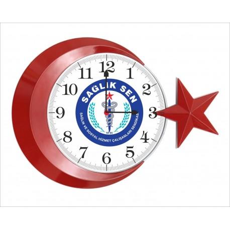 Logo ve Resim Baskılı Hediyelik Duvar Saati